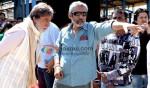 Amitabh Bachchan, Prakash Jha (Aarakshan Movie Stills)