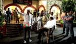 Prakash Jha, Amitabh Bachchan (Aarakshan Movie Stills)