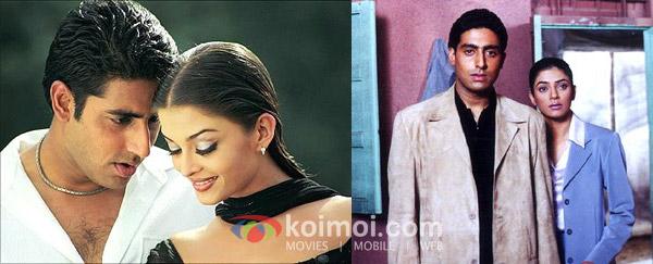 Abhishek Bachchan, Aishwarya Rai ('Dhai Akshar Prem Ke' Movie Stills), Abhishek Bachchan, Sushmita Sen ('Bas Itna Sa Khwaab Hai' Movie Stills)