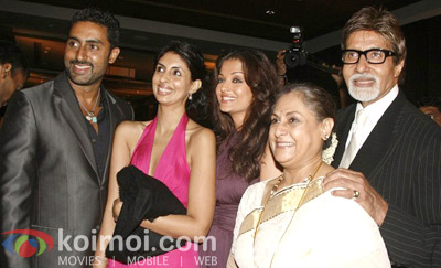 Abhishek Bachchan, Aishwarya Rai, Jaya Bachchan, Amitabh Bachchan