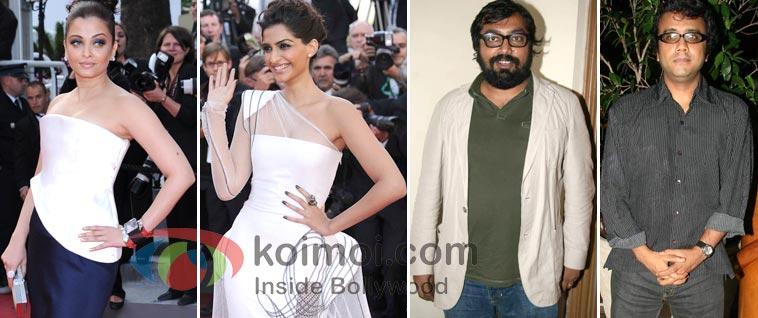 Aishwarya Rai, Sonam Kapoor, Anurag Kashyap, Dibakar Banerjee At Cannes