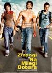 Farhan Akhtar, Hrithik Roshan, Abhay Deol (Zindagi Na Milegi Dobara Movie Poster)