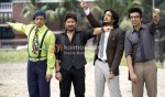 Jaaved Jaafery, Arshad Warsi, Riteish Deshmukh, Ashish Chowdhry (Double Dhamaal Movie Stills )