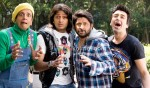 Jaaved Jaafery, Riteish Deshmukh, Arshad Warsi, Ashish Chowdhry (Double Dhamaal Movie Stills)