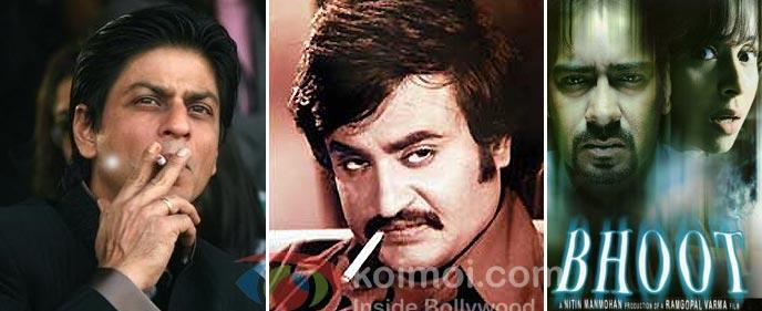 Shah Rukh Khan Smoking, Rajinikanth Smoking, Bhoot Movie Poster