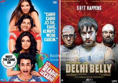 Always Kabhi Kabhi Movie Poster, Delhi Belly Movie Poster