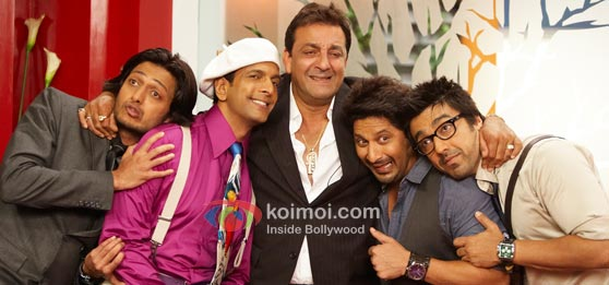 A still from DOUBLE DHAMAAL