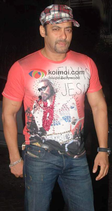 Salman Khan In T-Shirt And Jeans With Hat Look