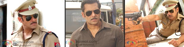 Salman Khan In Khakee (Dabangg Movie Stills)