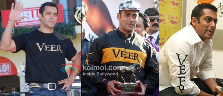 Salman Khan Wearing Their Movie On Their T-Shirt