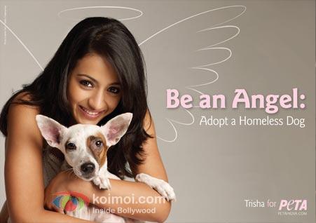 Trisha Krishnan PETA Shoot