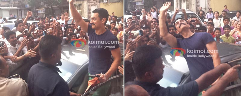 Within 45 minutes, Aamir's fans had decided to drop in to say hello!