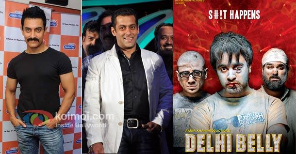 Aamir Khan's DELHI BELLY has broken the 1st weekend box-office records of Salman Khan's READY in US & Australia.
