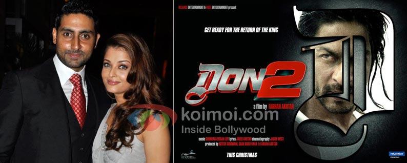 Abhishek Bachchan, Aishwarya Rai Bachchan, Shah Rukh Khan Don 2 Movie Wallpaper