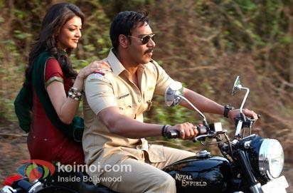 Ajay Devgan & Kajal Aggarwal in 'Singham'