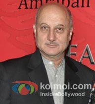 Anupam Kher at a promotional event.