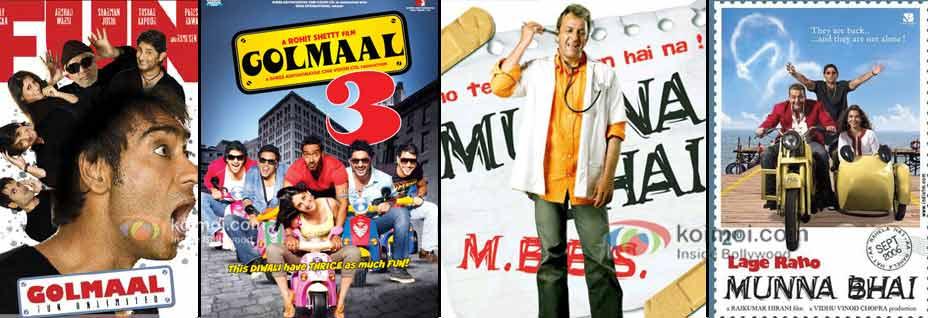Gomaal, Golmaal 3, Munnabhai MBBS & Lage Raho Munnabhai