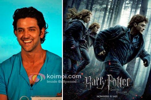 Hrithik Roshan promoting Zindagi Na Milegi Dobara and Harry Potter And The Deathly Hallows Part 2