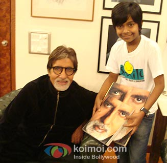 Harsh Mayar with Amitabh Bachchan