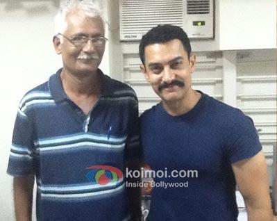 Jagdip Gandhi with Aamir.