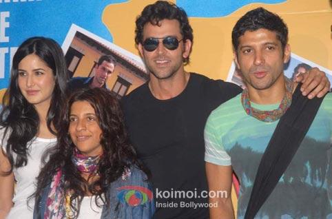 Katrina Kaif, Zoya Akhtar, Hrithik Roshan, Farhan Akhtar (Zindagi Na Milegi Dobara Road Trip Mumbai To Delhi)