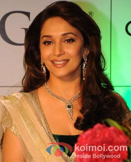 Madhuri Dixit at a promotional event.