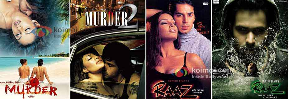 Murder, Murder 2, Raaz & Raaz the mystery continues poste