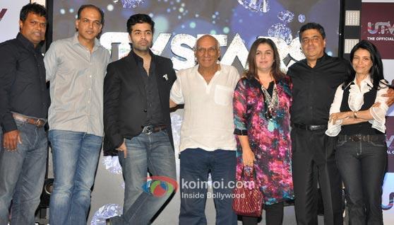 Ashutosh Gowariker, Karan Johar, Yash Chopra, Farah Khan & Ronnie Screwvala at the launch of UTV Stars.
