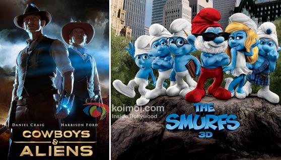 Cowboys & Aliens Movie Poster, The Smurfs Movie Poster