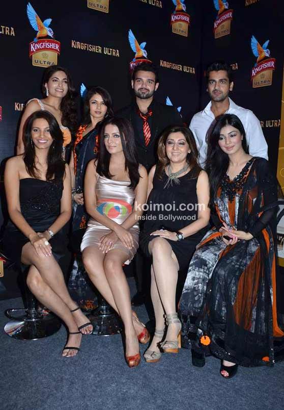 Diana Hayden, Bhagyashree, Celina Jaitly, Mahaakshay Chakraborty, Archana Kochhar, Arjan Bajwa, Ayesha Takia-Azmi At Archana Kocchar's show Lakme Fashion Week 2011