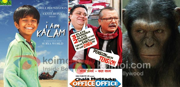 I Am Kalam, Chala Mussaddi…, Rise Of The Planet Of The Apes: BO Update