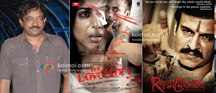 Ram Gopal Verma, Not A Love Story Movie Poster, Rakht Charitra Movie Poster