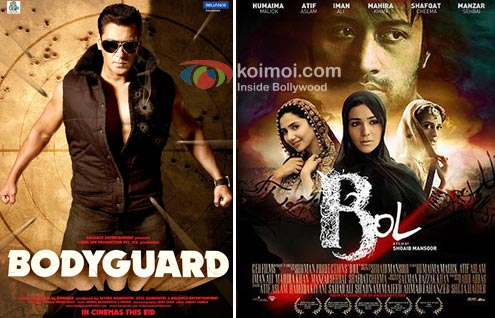 Posters of Boduyguard and Bol.