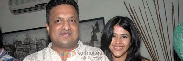 Sanjay Gupta & Ekta Kapoor at the former's residence.