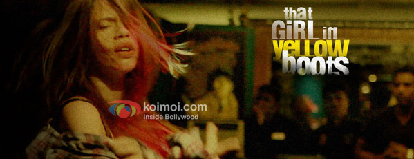 That girl in yellow boots Movie Poster