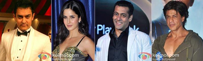 Aamir Khan, Katrina Kaif, Salman Khan, Shah Rukh Khan