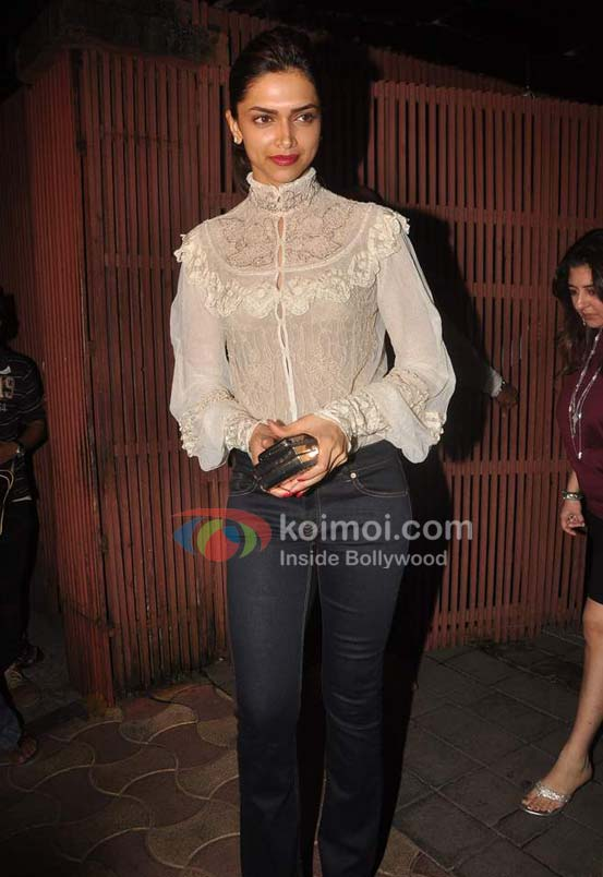 Deepika Padukone At Ranbir Kapoor's birthday and 'Rockstar' bash