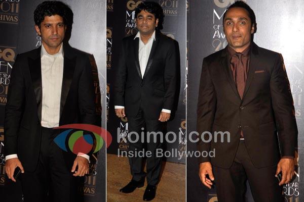 Farhan Akhtar, A. R. Rahman, Rahul Bose At GQ Awards 2011
