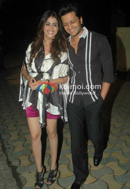 Genelia D'souza, Ritesh Deshmukh At Speedy Singhs Bash