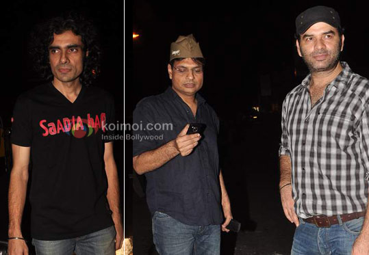Imtiaz Ali, Irshad Kamil, Mohit Chauhan at Ranbir Kapoor's birthday and 'Rockstar' bash