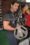 John Abraham Promotes Force At Gold Gym