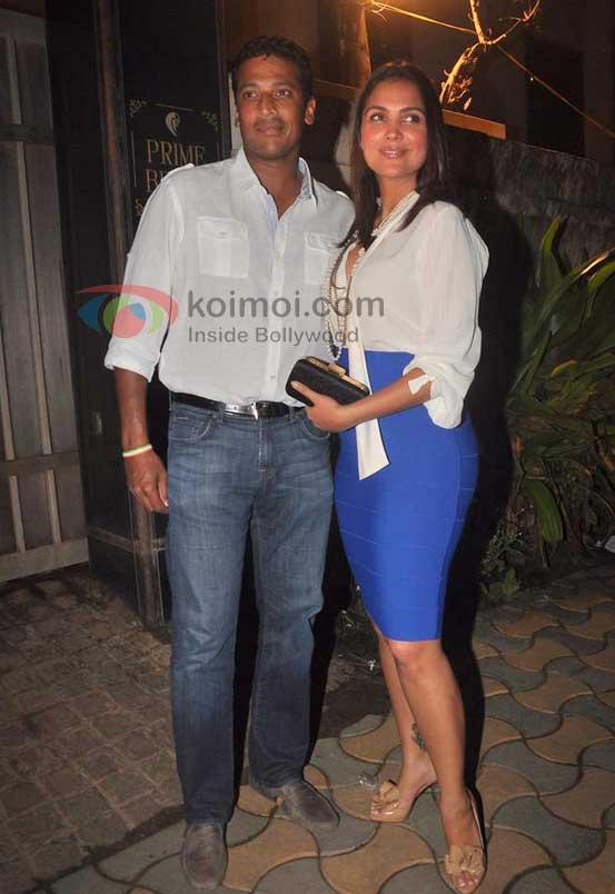 Mahesh Bhupathi, Lara Dutta At Speedy Singhs Bash