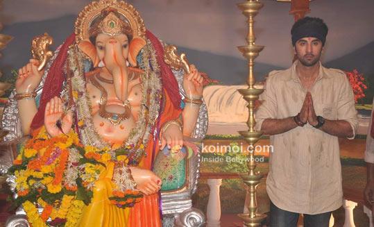 Ranbir Kapoorr At RK Ganpati