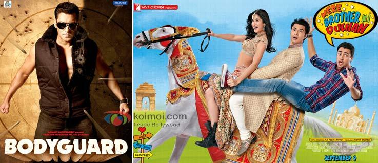 Salman Khan Bodyguard Movie Poster, Mere Brother Ki Dulhan Movie Poster