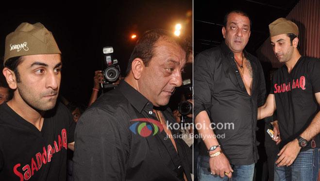Sanjay Dutt, Ranbir Kapoor Ranbir Kapoor's birthday and 'Rockstar' bash