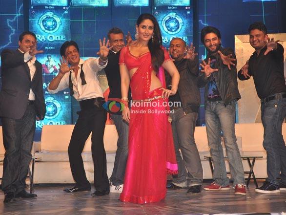 Shah Rukh Khan, Kareena Kapoor, Vishal Dadlani, Shekhar Ravjiani, Bhushan Kumar At RA.One Music Launch