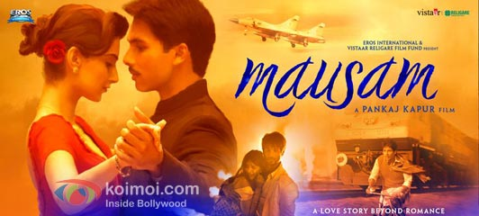 Shahid Kapoor, Sonam Kapoor (Mausam Movie Wallpaper)