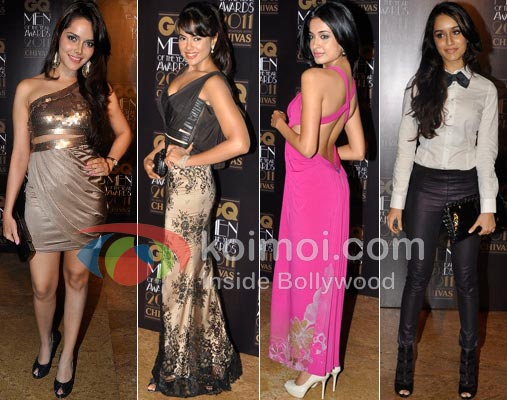 Shazahn Padamsee, Sameera Reddy, Sarah Jane Dias, Shraddha Kapoor At GQ Awards 2011