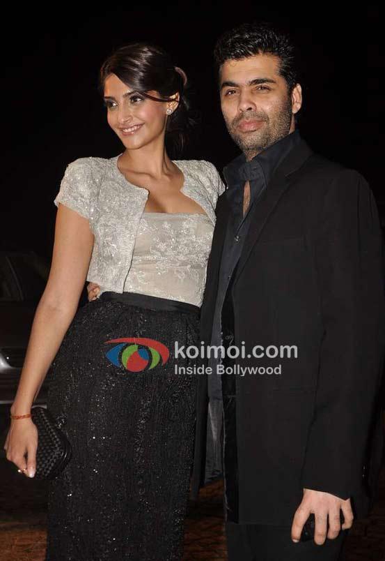 Sonam Kapoor, Karan Johar At Speedy Singhs Bash