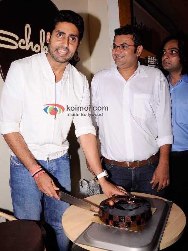 Abhishek Bachchan At the launch of Anita Dongre's café